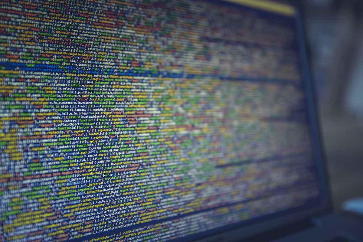 Bildschirm voller Programmierfunktionen